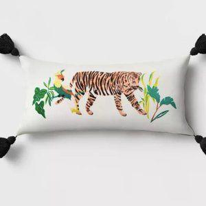 Tiger Outdoor Lumbar Throw Pillow - Target